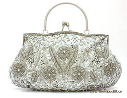 Wholesale 2014 In Stock Luxury Discount Gorgeous Handmade Beaded Bridal Hand Bags Wedding Evening Party Event Hand Bag