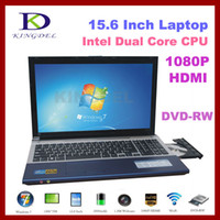 Wholesale 15 quot Notebook Laptop Computer with Intel Atom D2500 Dual Core Ghz GB GB DVD RW Webcam