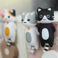 Wholesale Lovely cat anti dust plug for iphone4s iphone4 ipad Samsung HTC cartoon earphone jack cell phone accessories cell phone anti dust gadgets