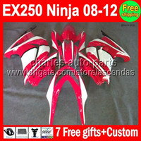 Wholesale 7gifts Custom For Kawasaki Ninja EX250 red white EX EX250R new red Kit Fairings