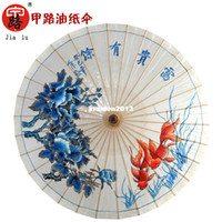 Wholesale Chinese Parasol water resistant sunscreen classic classic peony Oiled Paper Umbrella