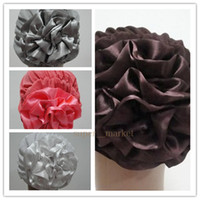 Wholesale Simple Crystal Hemp Hat with Flowers Headscarf Women Muslim Scarves Wraps Hijabs