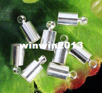 Cord & Wire Fashion Beads Free shipping 200pc LOT End Beads Ends Caps For 6mm Leather Cord a7761-2