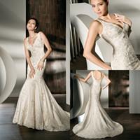Cheap Trumpet/Mermaid Cheap Wedding Dresses Best Reference Images V-Neck 2014 Beach Bridal Dresses