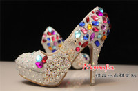 Kitten Heel bars dress shoes - Beaded rhinestone Crystal shoes Jeweled female lady s formal Women Bridal Evening Prom Party club Bar Wedding Bridesmaid dress shoe