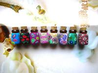 Glass vials - Murano Glass perfume Essential Oil Vial Small Heart empty perfume bottles Aroma vial pendant
