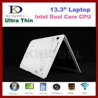 Wholesale 13 Inch laptop Netbook with Intel Atom D2500 Dual Core Ghz GB RAM GB HDD WIFI Mini HDMI Webcam