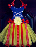 Wholesale new snow white princess Tutu bow holder ribbon desig Soft chiffon Tutus chevron dress bow holder
