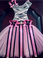 Wholesale Tutu bow holder ribbon desig Soft chiffon Tutus chevron dress bow holder