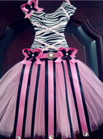 Wholesale Tutu bow holder ribbon desig Soft chiffon Tutus chevron dress bow holder