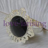 Iron ECO Friendly  Lowest Price--Black Gem Stone Vintage Style Napkin Rings Wedding Bridal Shower Napkin holder-- Free Shipping