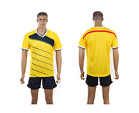 Wholesale Colombia national team Home jersey World Cup kit yellow football jersey Mix order