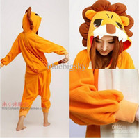 Anime Costumes Unisex Animal Wholesale - New Unisex Kigurumi Pajamas Adult Anime Cosplay Costume Onesie The lion S M L XL