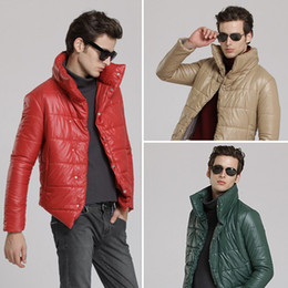 Wholesale Men s clothing male winter outerwear casual cotton padded jacket stand collar thermal cotton padded jacket stunning front fly Youshop2012