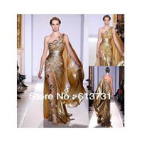 Reference Images Organza Sexy - 2014 Gold Pageant Gown Zuhair Murad Haute Couture Applique Shine Evening Dresses 9390