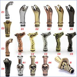 Wholesale King Cobra Drip Tips Snake Dragon Drip tip Metal Human skeleton skull Mouthpieces for CE4 DCT EE2 vivi nova Protank iClear Atomizer