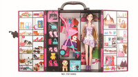 Wholesale Fashion Ultimate Closet toy furniture with doll and accessories Girl Birthday gift YS1306G