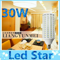 Wholesale 30W Led E27 E40 bulbs corn light high bright lumens degree warm cool white SMD led lights V V