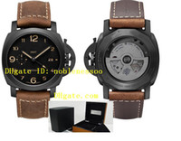 Wholesale with original box papers Mens luxury Watch AAA Top Quality Ceramic Pam441 Pam00441 Pam Days Automatic Men s Watches