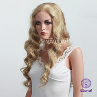 8 blonde Wig,Half Wig Wigiss women natural looking long wave blonde Synthetic lace front wig HAIR fiber H9294Z Bshow