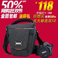 Neck Straps Nylon Lens Cases Leifei Lefo new triangle SLR camera bag Canon 60D 70D 650D Nikon D7100 camera bag package