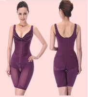 Women Bodysuit Valentine's Day Best Tummy Slimming Postpartum Full Body Shaper Firm Compression Lace Style Magnet Underwear M L XL XXL XXXL Purple White Black Option