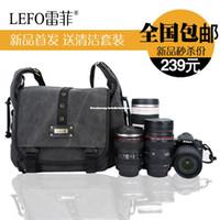 Neck Straps Nylon Lens Cases Leifei lefo SLR camera bag canvas Photography Nikon D7100 D90 Canon 70D 650D waterproof bag