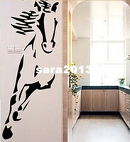 Wholesale and retail Horse cmX100cm Vinyl wall art mural decals wall sticker home decor d