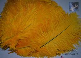 wholesale 100pcs lot 10-12inch Gold Ostrich Feathers for Wedding centerpiece decor home table centerpice feather centerpiece