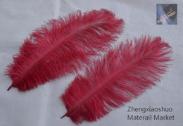wholesale 100pcs lot 10-12inch Wine Red burgundy Ostrich Feathers plume for home centerpice wedding feather Decor