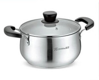 Wholesale stainless steel pot soup pot can use induction and gas cooker cm round body