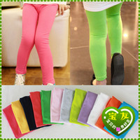 White, yellow , purple , gray, green, pi Spot In children ( 2-7 years old ) Baoyou Korean children's clothing wholesale factory direct 2014 spring models colorful girls leggings amount of money to run 3539