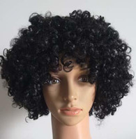 Wholesale Fashion Afro wig fans prom black wigs