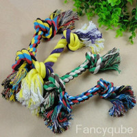 Wholesale NEW FASHION DOG PUPPY PET COTTON BRAIDED BONE ROPE CHEW KNOT TOY HG