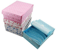 Wholesale Folding socks Ties Bras Underwear Wardrobe Closet organizer drawer storage box