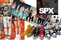 Wholesale Tide brand of Korea spx casual skateboarding shoes hight cut sneakers for women and men size eur