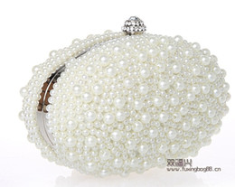 Wholesale 2014 Luxury Brilliant Star Fashion Pearl Rhinestone Evening Bags Party Prom Bags White Silver Black Bridal Hand Bags Bridesmaid Bags