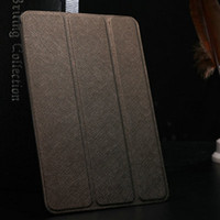 Wholesale DHL Thin PU Leather case for iPad Mini Drop Ship Cross Pattern Luxury Smart Cover Magnetic Stand function