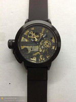 Wholesale NEW ARRICULYUOAT RATTRAPANTE AUTOMATIC WATCH SWISS CASE BLACK WATCHES LEATHER