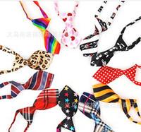 Wholesale HOT Fashion Polyester Silk Pet Dog Necktie Adjustable Handsome Bow Tie Necktie Grooming Supplies