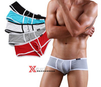 Wholesale Low waist sexy panties Male satin underpants Pouch Penis sheath Shorts men modal Soft Bikini Boxers