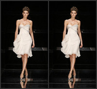 Wholesale 2014 New Elie Saab Party Dresses Sweetheart Strapless Beads Backless A Line Knee Length Chiffon Prom Cocktail Gowns Short Evening Dress