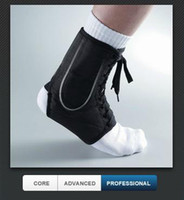 Wholesale LP black professional high performance ankle brace support XS S M L XL body protection sports safety
