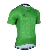 Tops Anti Bacterial Men Free shipping Tour De France Green 2014 cycling jersey Road Cycling Clothing!