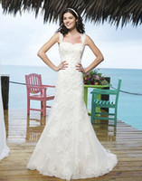 Trumpet/Mermaid Model Pictures Sweetheart beach handsome sweetheart lace satin mermaid style wedding dress bridal gown perfect outline custom made Sincerity Bridal 3770