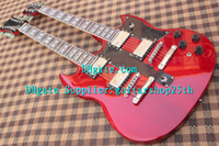 Solid Body 12 Strings Mahogany New arrival Custom Shop SG Custom 12 Strings 1275 Double Neck Led Zeppeli Page Signed Aged Red High Quality Hot Guitars Musical Instruments