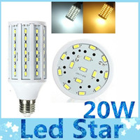 Wholesale High Power W Led E27 E26 E14 B22 bulbs light lumens warm cool white SMD Led corn lights degree V V