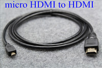 Wholesale 1 M Micro HDMI Gold Plated HD Cable Adapter for Tablet PC TV Digital Camera Phone Computer
