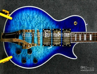 beautiful gift shop - NEW Custom shop Electric Guitar Classic blue burst pickups WithBigsby Beautiful Christmas gifts