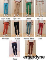 Wholesale Mens Slim Fit Casual Trousers Skinny Stretch Pencil Jeans Trousers Size Sample
